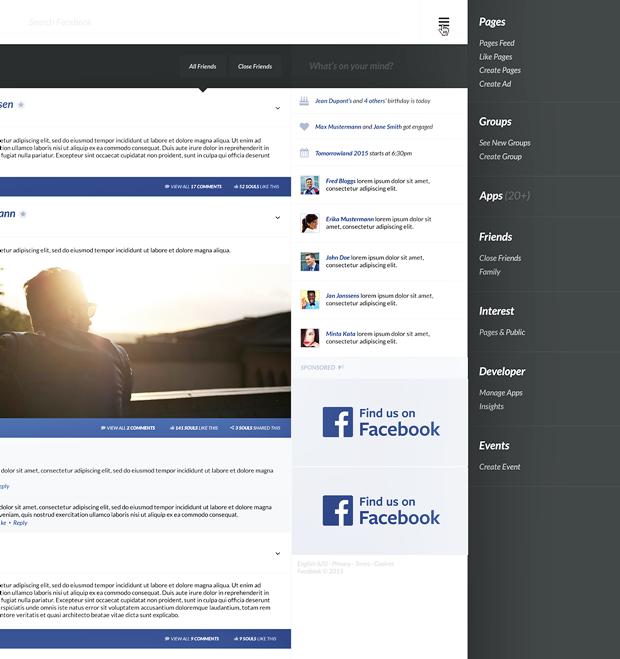 Редизайн дня: полностью новая веб-версия Facebook. Изображение № 8.
