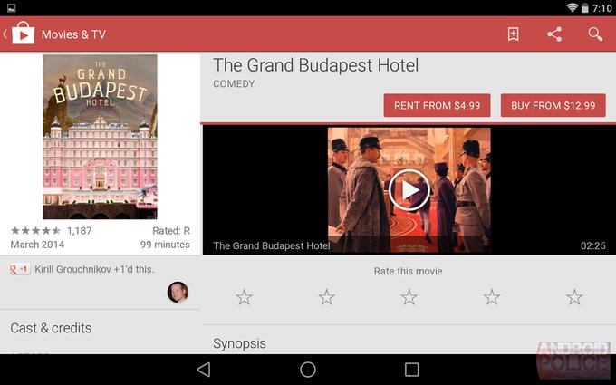 Текущий интерфейс Google Play для планшетов. Изображение № 7.
