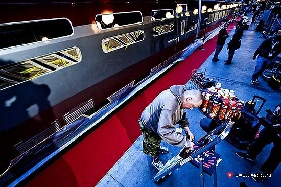 Граффити наскоростном поезде вПариже. Изображение № 2.