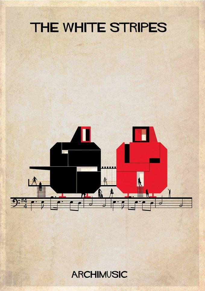 Испанский архитектор превратила песни в здания для новой серии плакатов . Изображение № 22.
