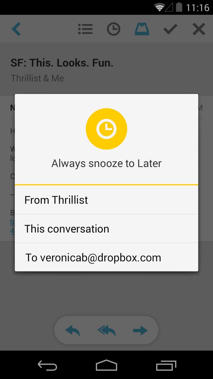 Почтовое приложение Mailbox вышло для Android. Изображение № 2.