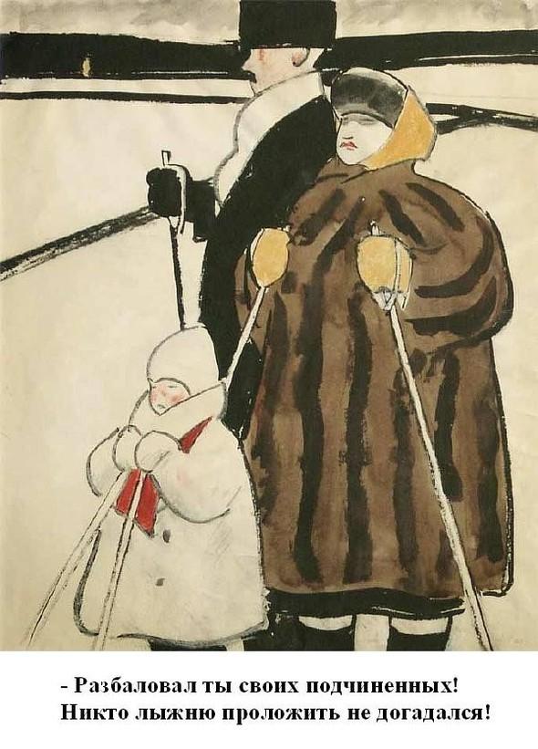 Леонид Сойфертис. рисунок, карикатура. Изображение № 32.