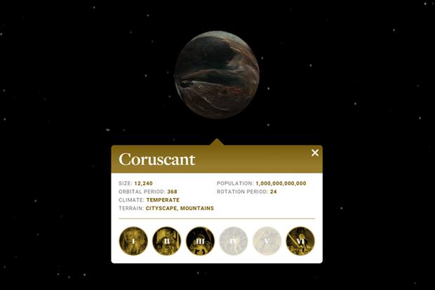 Ссылка дня: изучите карту далёкой галактики из «Звёздных войн». Изображение № 1.