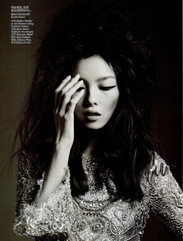 Съёмка: Лю Вэнь и Сунь Фэй Фэй для Vogue. Изображение № 4.