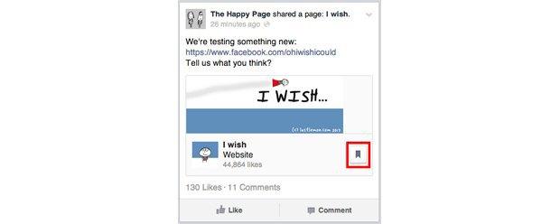Facebook тестирует функцию «прочитать позднее». Изображение № 1.