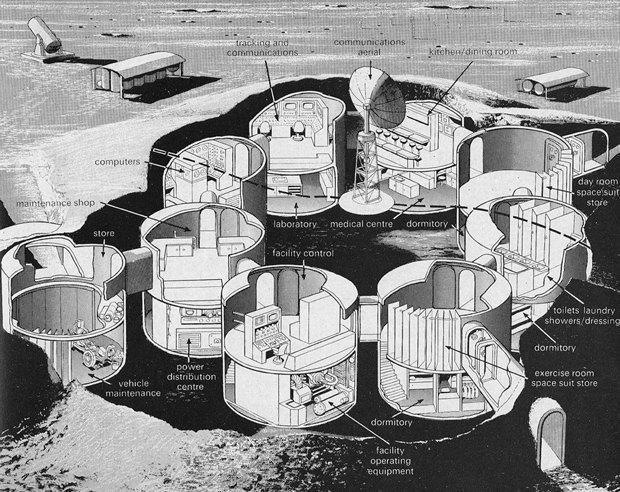 Как представляли колонию на Луне в 1969-м. Изображение № 3.