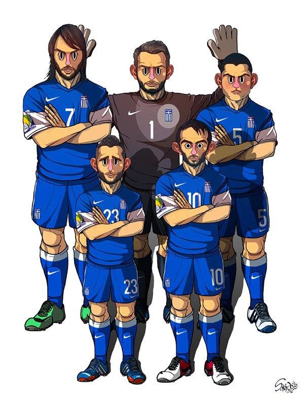 Иллюстратор нарисовал все 32 команды ЧM по футболу . Изображение № 3.