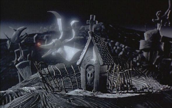 Покойная собачка не теряет бодрости духа. «Кошмар перед Рождеством» 1993. Изображение №38.