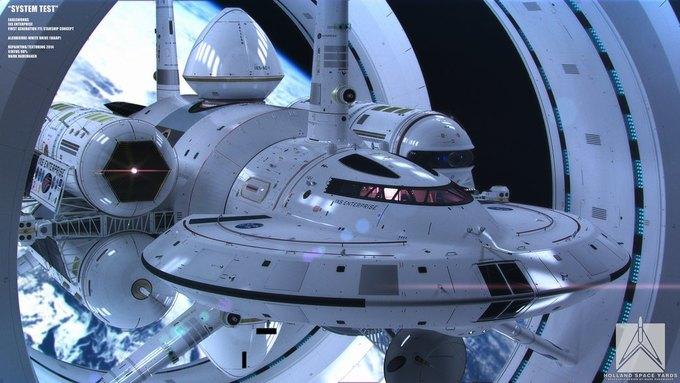 Опубликован концепт корабля NASA с варп-двигателем . Изображение № 1.