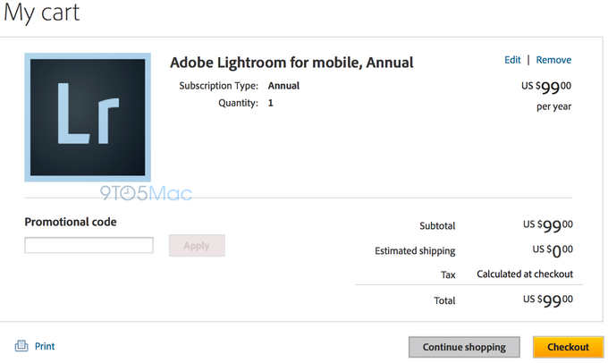Вскоре появится Adobe Lightroom для iPad. Изображение № 1.