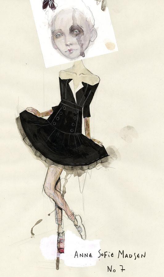 Изображение 1. Fashion-иллюстрационация от Anne Sofie Madsen.. Изображение № 1.