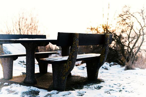 Место для отдыха с видом на озеро Веттерн на пути из Гренны в Векшё . Изображение №20.