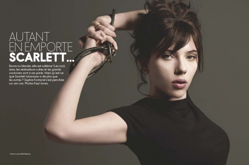 Scarlett Johansson, Elle France June 2009. Изображение № 1.