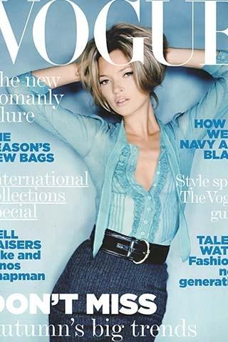 Кейт Мосс на обложках vogue. Изображение № 27.