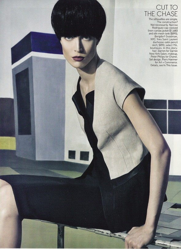 Raquel Zimmermann for US Vogue March 2010. Изображение № 9.