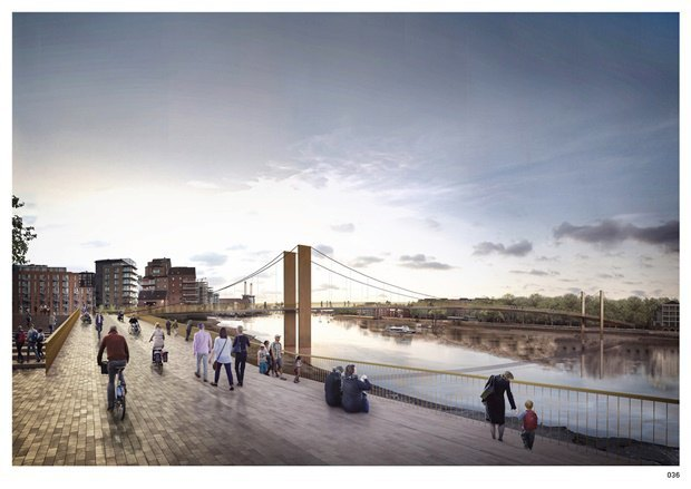 Выложены 74 проекта нового моста через Темзу. Изображение № 4.
