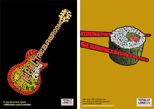 50 примеров использования типографики в рекламе. Изображение №48.