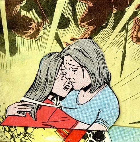Зловещие и мрачные ретро-иллюстрации, переделанные из детских комиксов. Изображение № 5.