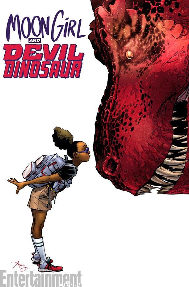 Marvel представила новую героиню и её динозавра . Изображение № 1.