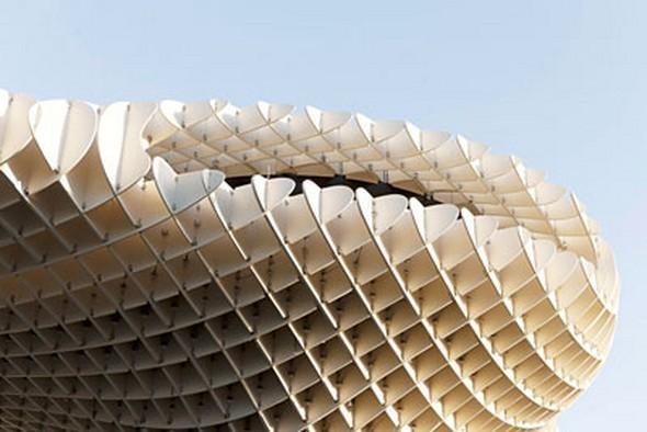 Изображение 9. Metropol Parasol: Самая большая деревянная конструкция в мире.. Изображение №9.