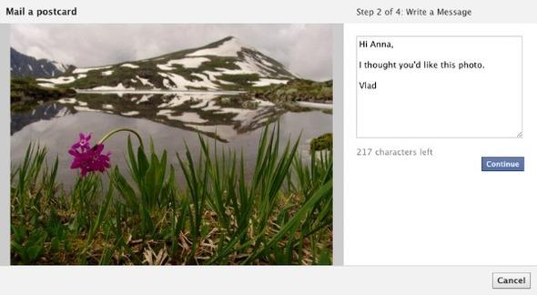 Facebook разрешит посылать настоящие почтовые открытки. Изображение № 1.