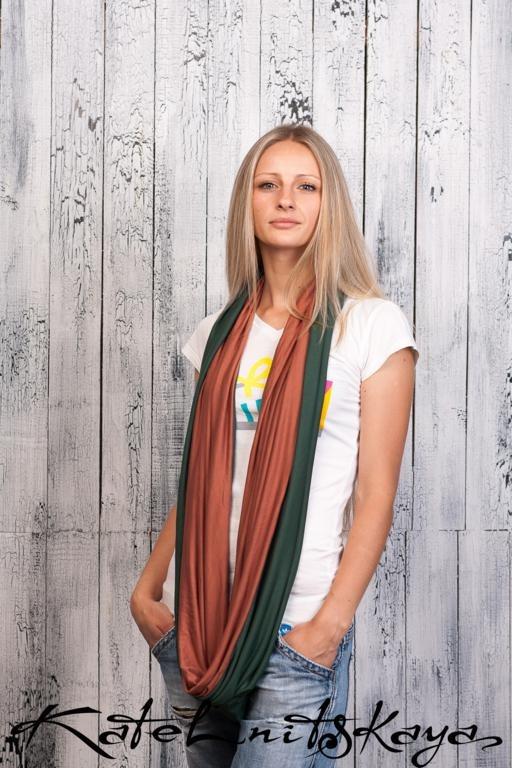 Осенняя коллекция ярких шарфов-снудов. Изображение № 10.