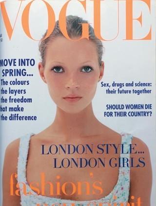 Кейт Мосс на обложках vogue. Изображение № 6.