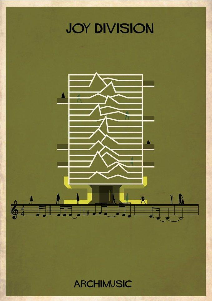 Испанский архитектор превратила песни в здания для новой серии плакатов . Изображение № 10.