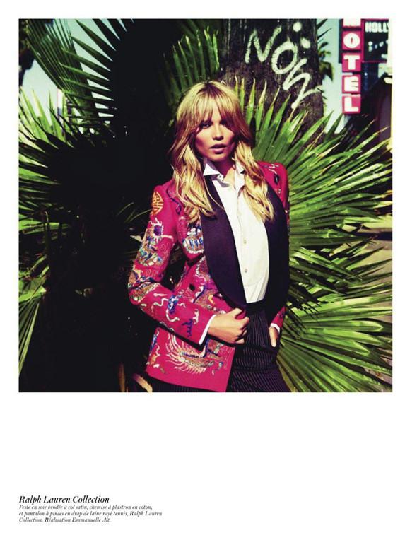 Съёмка: Аризона Мьюз, Лара Стоун, Наташа Поли и другие модели во французском Vogue. Изображение № 33.