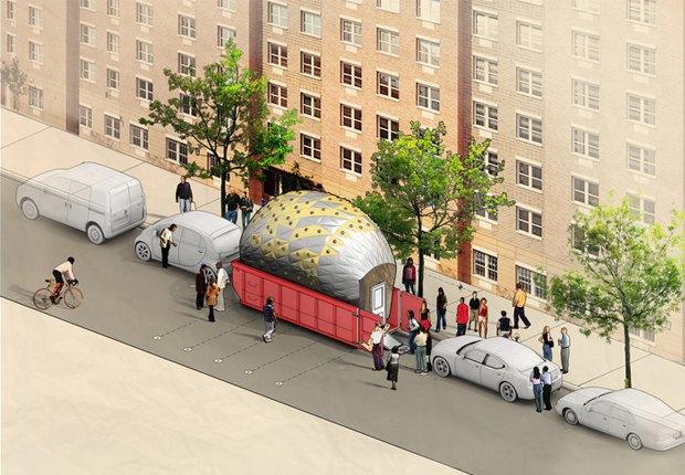 Мусорный контейнер в Нью-Йорке превратят в мобильную лабораторию. Изображение № 1.