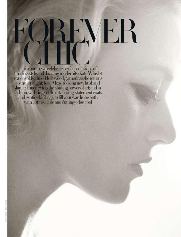 Съёмка: Кейт Уинслет для Harpers Bazaar. Изображение № 5.