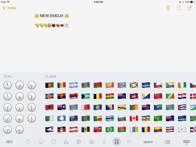 В iOS 9.1 появятся новые эмодзи . Изображение № 14.