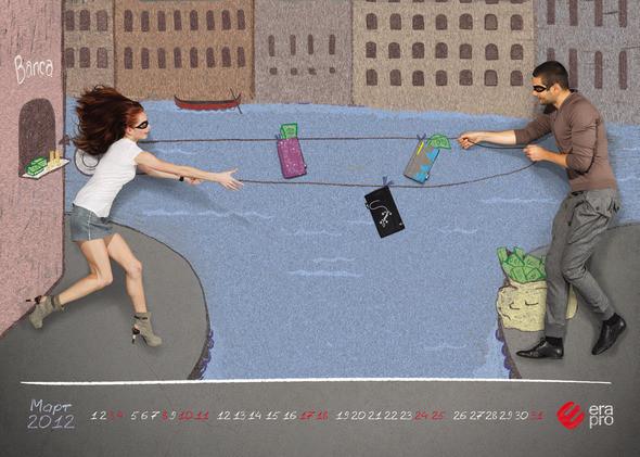 Изображение 4. «Весенний» календарь для ERA PRO от дизайнера Владимира Шмойлова.. Изображение № 3.