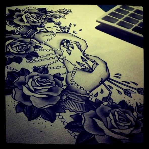 Kim-Anh Nguyen-Dinh : От рисунка к татуировке. Изображение № 7.