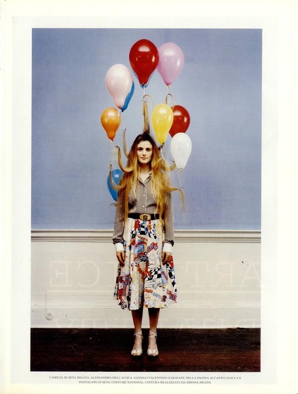 Архивная съёмка: Тим Уокер для итальянского Vogue, 2001. Изображение № 1.