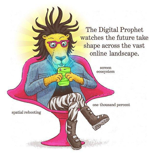 """«""""Цифровой пророк"""" наблюдает, как будущее обретает форму в бескрайнем интернет-ландшафте». Изображение № 8."""