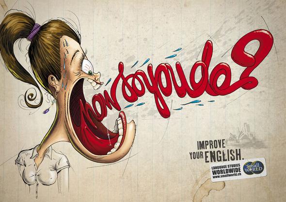 50 примеров использования типографики в рекламе. Изображение № 26.