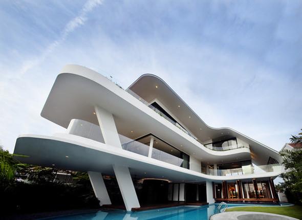 «Трехпалубная» вилла от Aamer Architects. Изображение № 13.