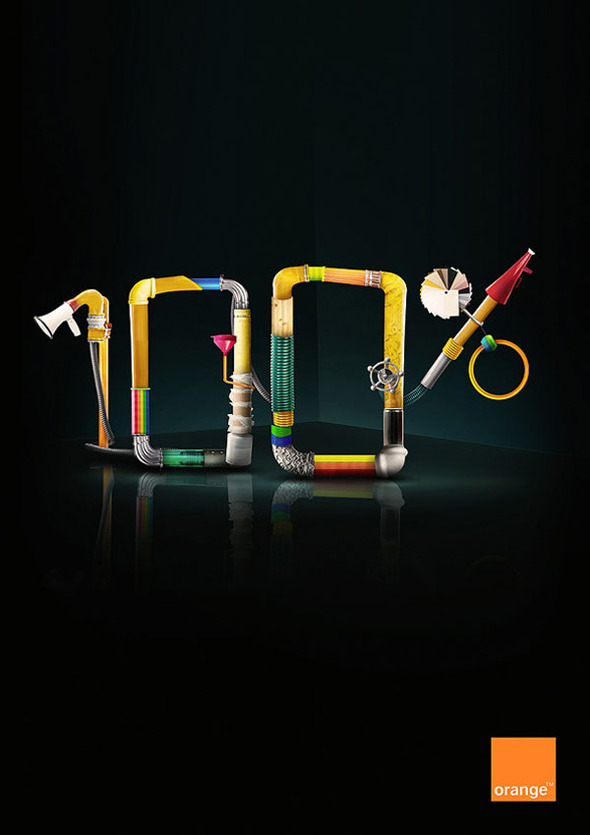 50 примеров использования типографики в рекламе. Изображение № 4.