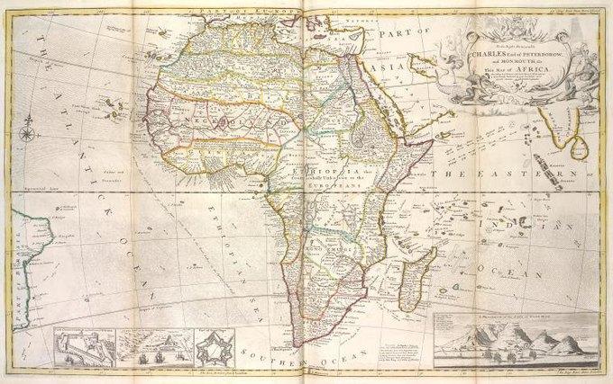 Карта Африки 1736 года. Изображение № 1.