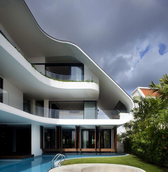 «Трехпалубная» вилла от Aamer Architects. Изображение № 6.