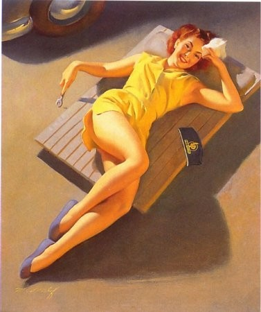 Изображение 14. Pin up girls love cars, airplans and motorcycles.. Изображение № 14.