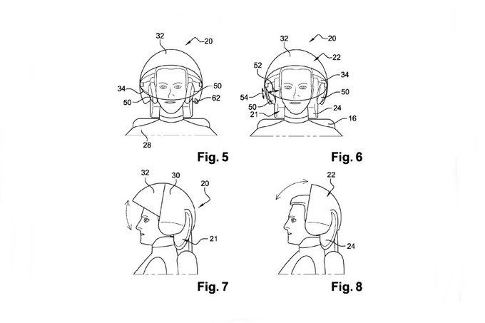 Airbus запатентовал шлем виртуальной реальности для пассажиров. Изображение № 1.
