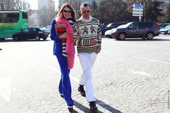 Анна Делло Руссо и Джордж Кортина, фото из блога Streetfsn. Изображение № 36.