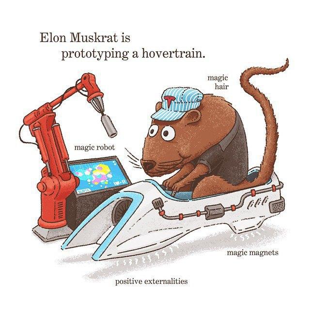 «Элон-ондатра прототипирует транспорт на магнитной подушке». Изображение № 14.