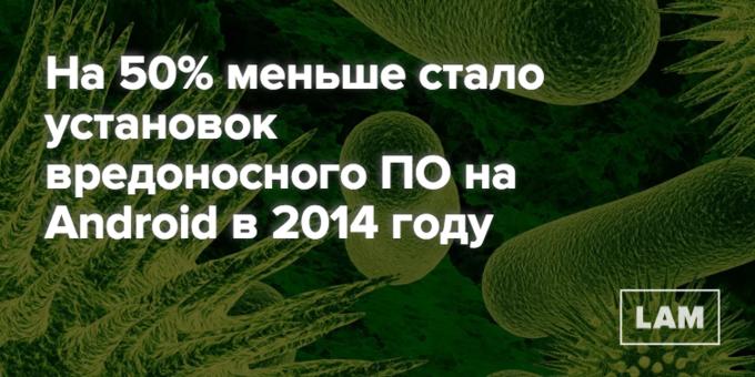 Число дня: насколько меньше стало вирусов на Android . Изображение № 1.