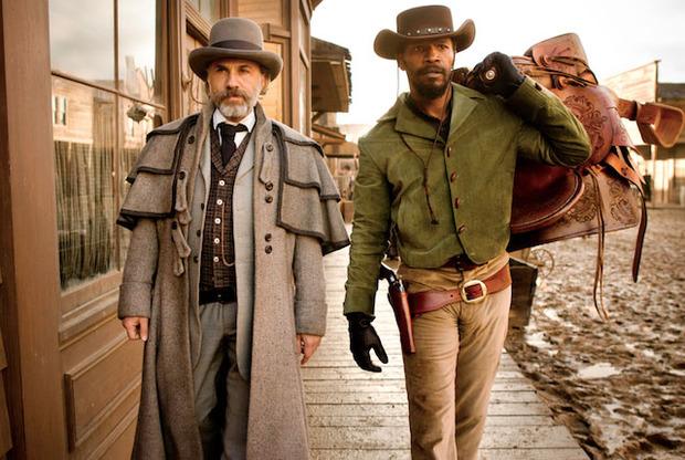 Кристоф Вальц и Джейми Фокс, играющий главного героя, в кадре из «Джанго». Изображение № 2.