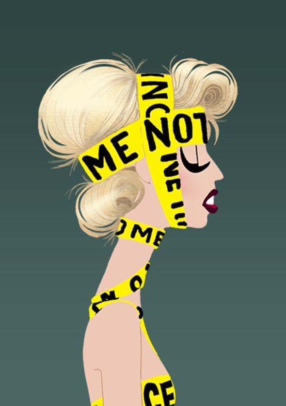Иллюстрации образов Lady Gaga от Adrian Valencia. Изображение № 1.