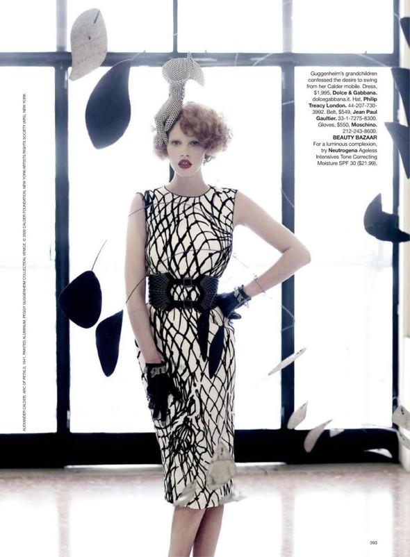 Lara Stone: Harper's Bazaar, September 2009. Изображение № 9.