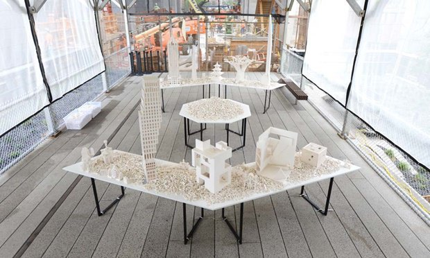 Слева направо: OMA New York, Steven Holl Architects, Selldorf Architects и Diller Scofidio + Renfro. Изображение № 1.
